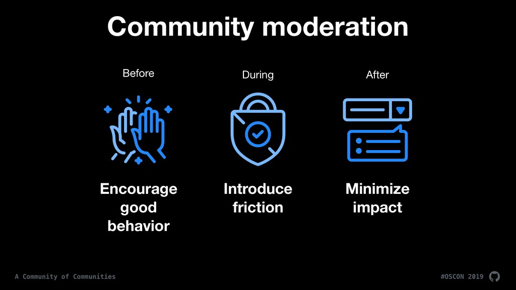 #OSCON 2019 A Community of Communities Minimize...