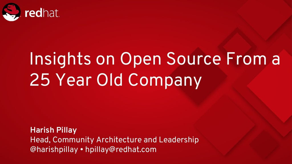 Insights on Open Source From a 25 Year Old Comp...