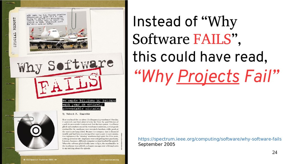 """24 Instead of """"Why Software FAILS"""", this could ..."""