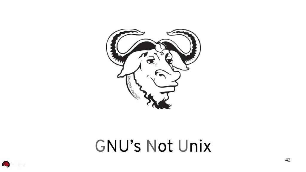42 GNU's Not Unix