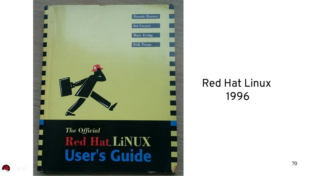 70 Red Hat Linux 1996