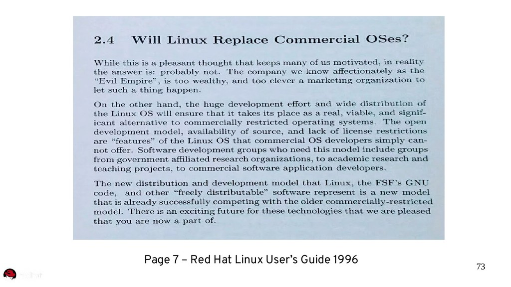 73 Page 7 – Red Hat Linux User's Guide 1996