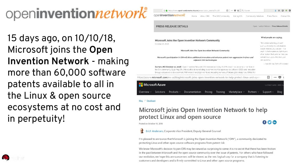 15 days ago, on 10/10/18, Microsoft joins the O...