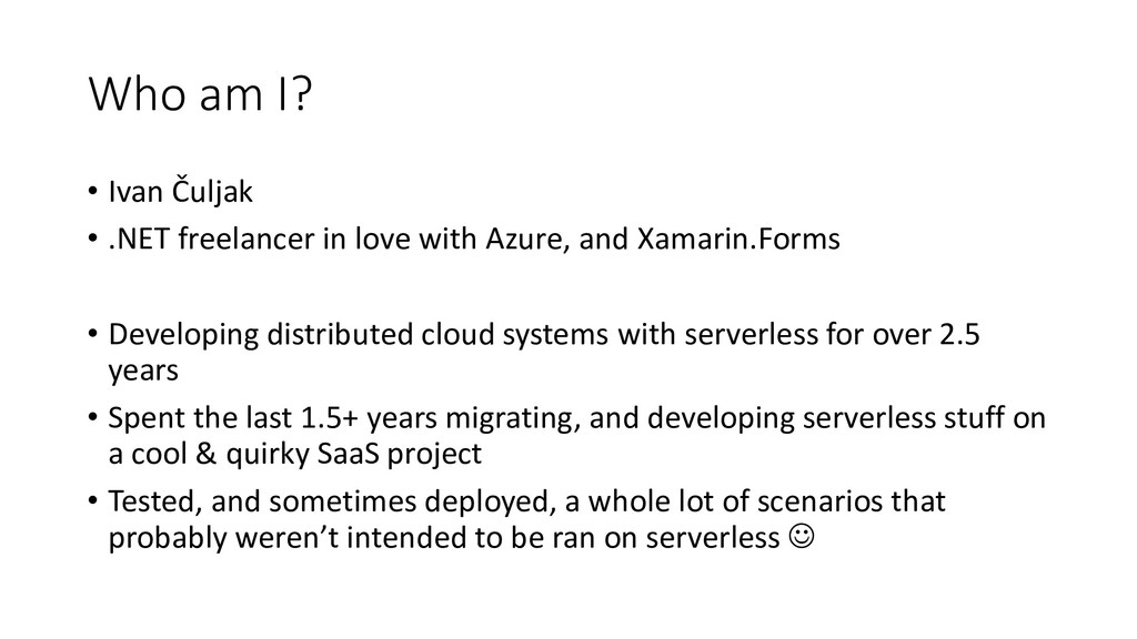 Who am I? • Ivan Čuljak • .NET freelancer in lo...