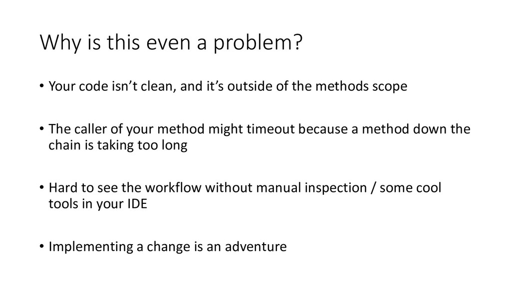 Why is this even a problem? • Your code isn't c...
