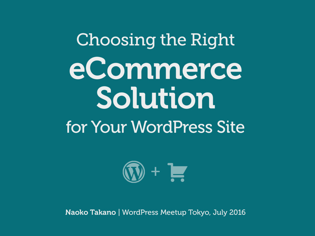 Choosing the Right eCommerce Solution for Your ...