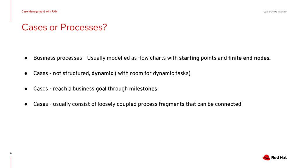 CONFIDENTIAL Designator Cases or Processes? Cas...