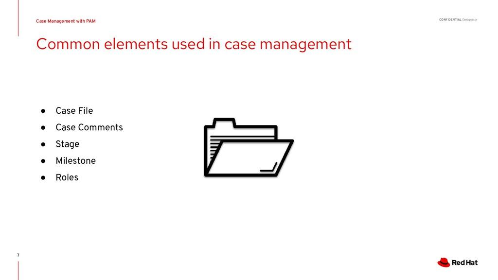 CONFIDENTIAL Designator ● Case File ● Case Comm...