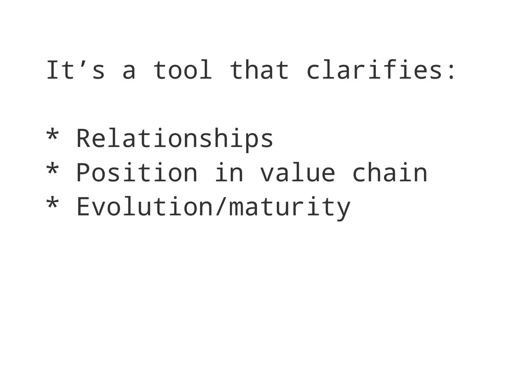 It's a tool that clarifies: * Relationships * P...