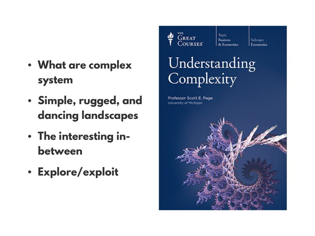 • What are complex system • Simple, rugged, and...