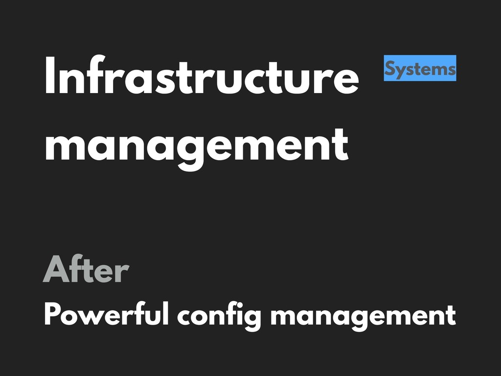 Infrastructure management Systems After Powerfu...