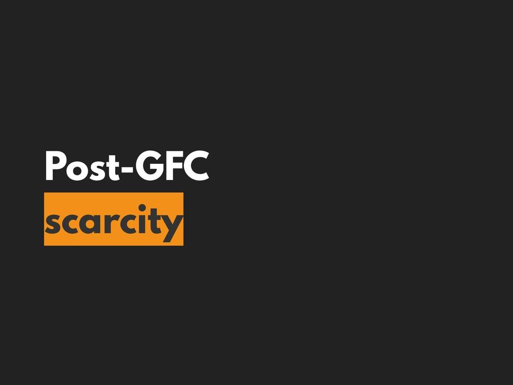 Post-GFC scarcity