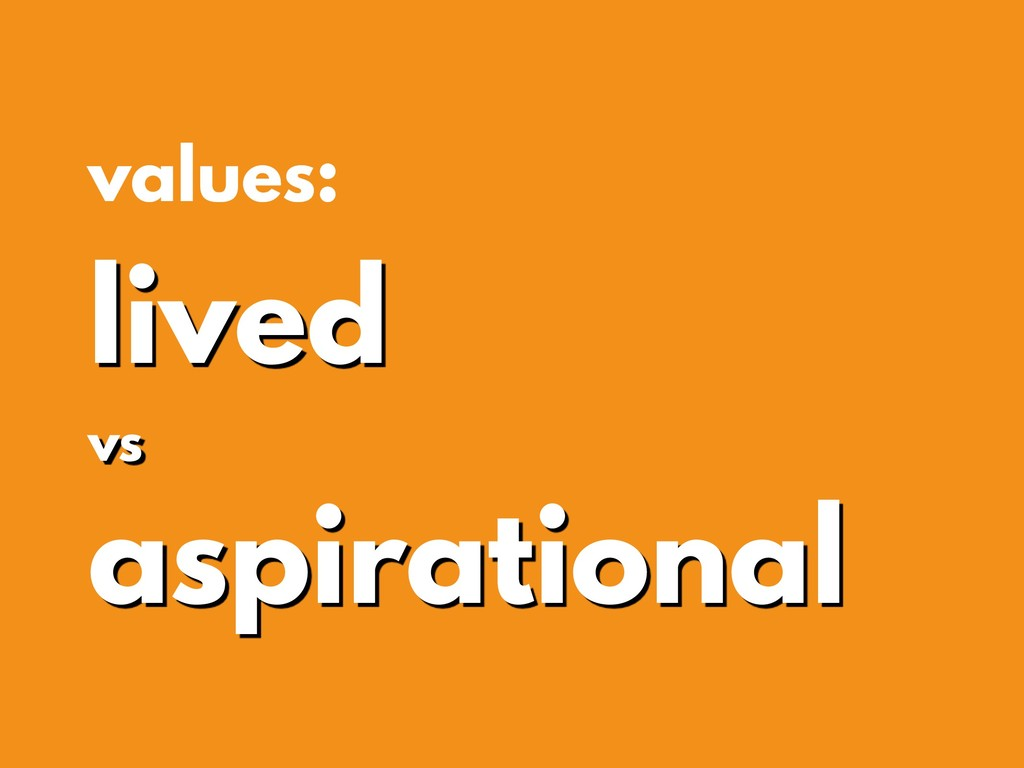values: lived vs aspirational