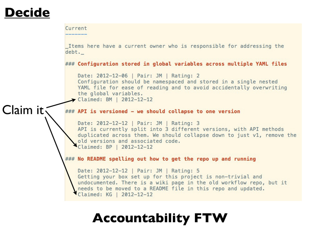 Claim it Decide Accountability FTW