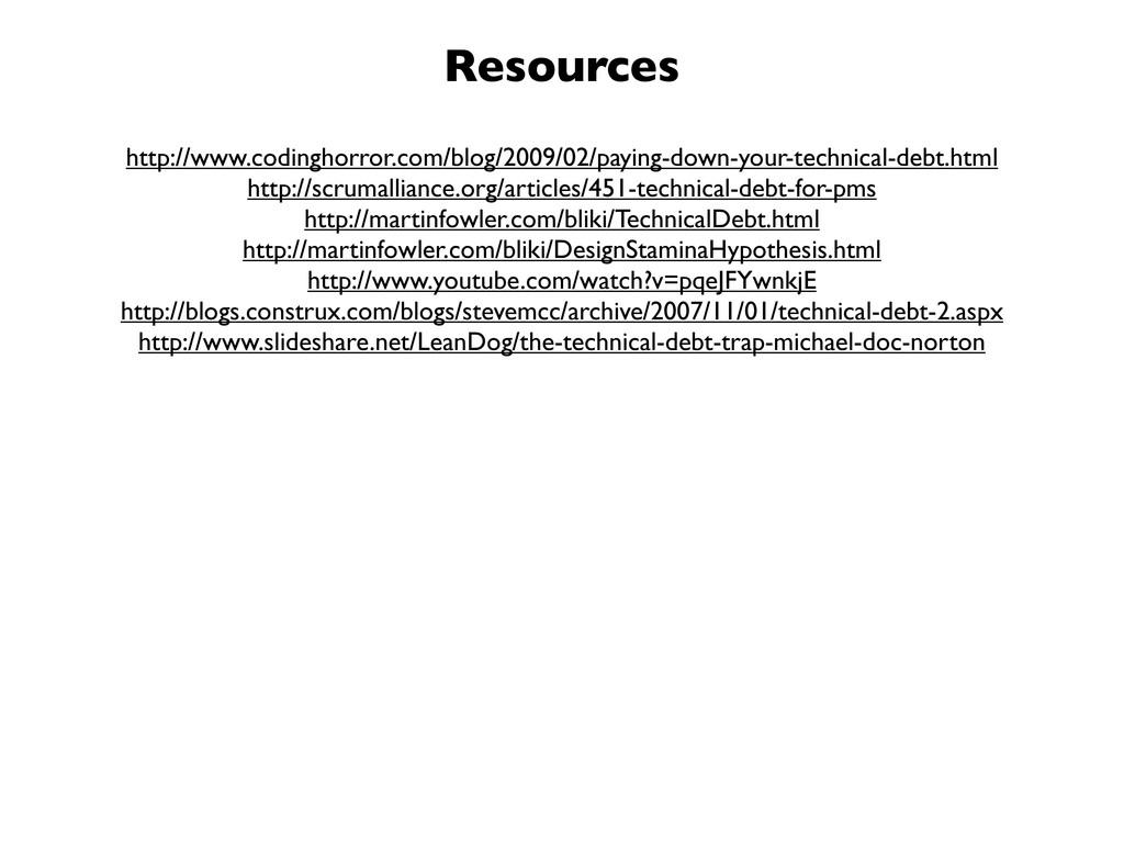 Resources http://www.codinghorror.com/blog/2009...