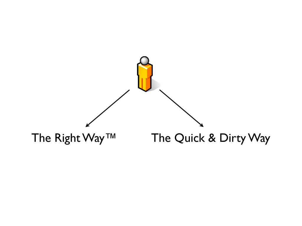 The Right Way™ The Quick & Dirty Way