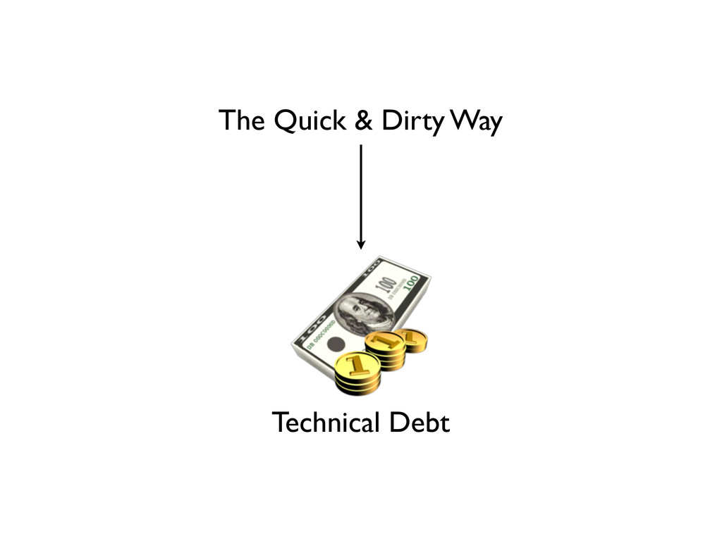 The Quick & Dirty Way Technical Debt