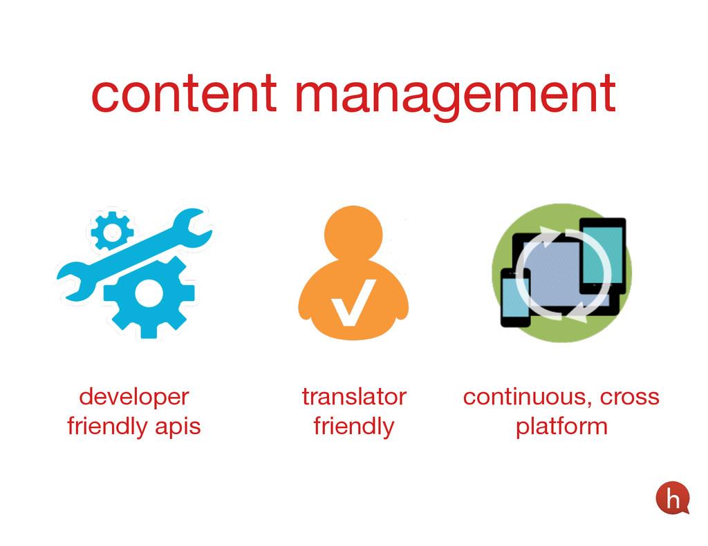 content management developer friendly apis tran...