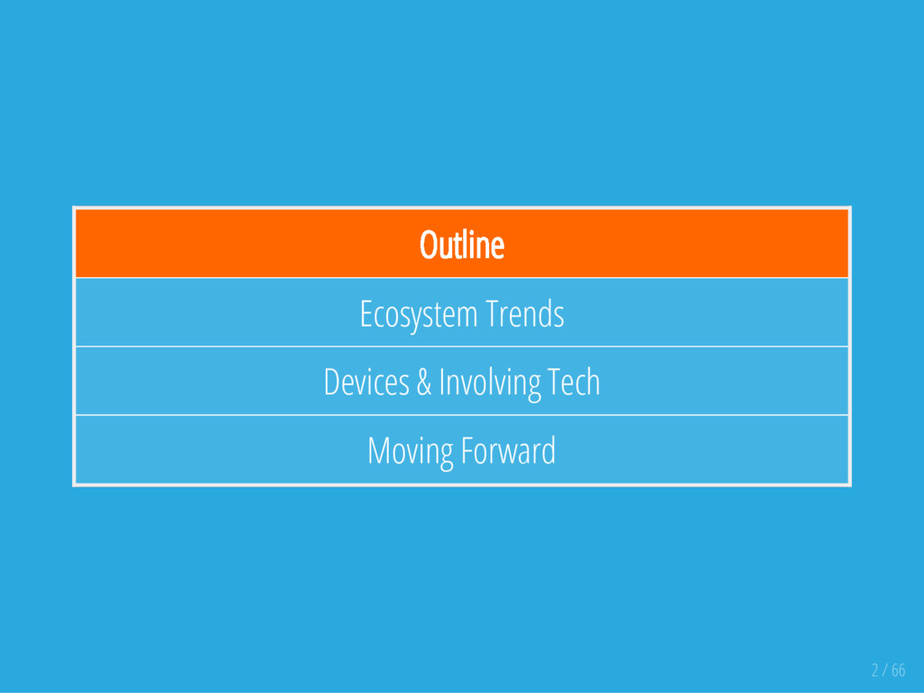 Outline Ecosystem Trends Devices & Involving Te...