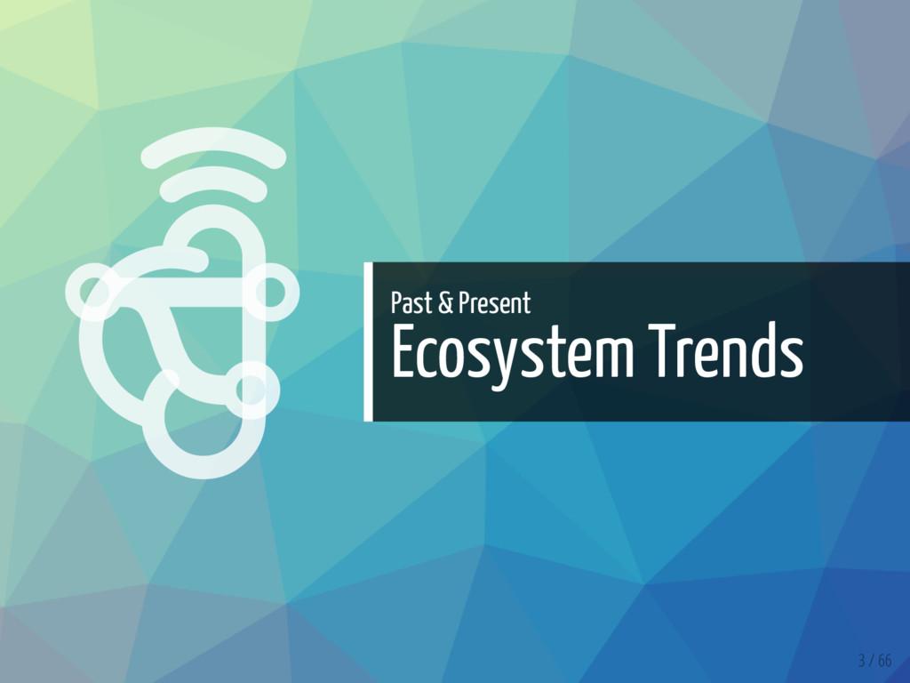   Past & Present Ecosystem Trends 3 / 66