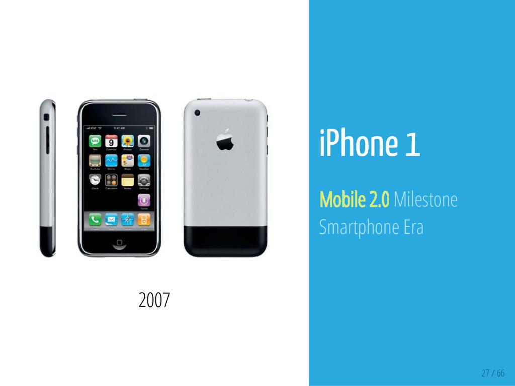 27 / 66 2007 iPhone 1 Mobile 2.0 Milestone Smar...