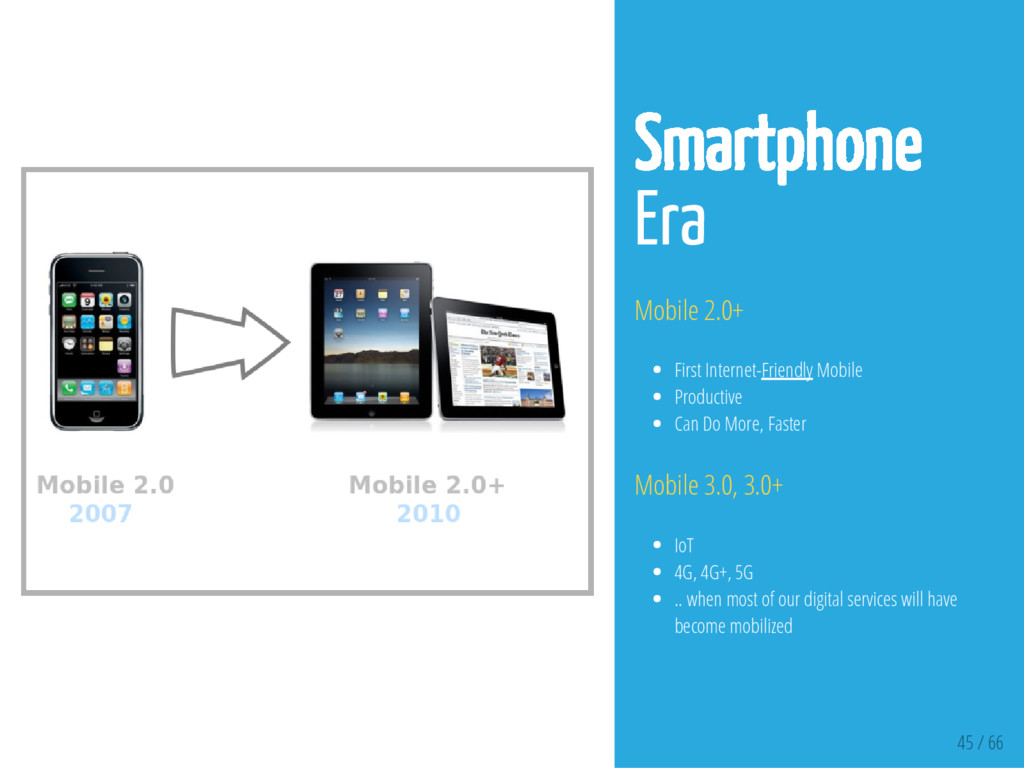 45 / 66 Smartphone Era Mobile 2.0+ First Intern...