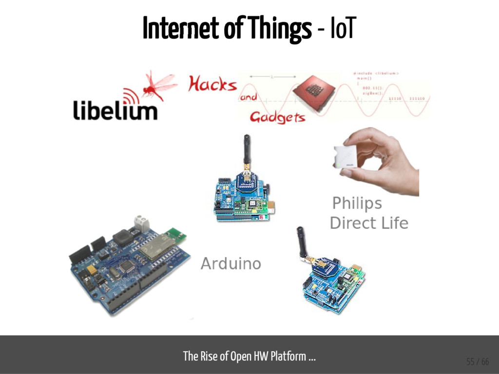 Internet of Things - IoT The Rise of Open HW Pl...
