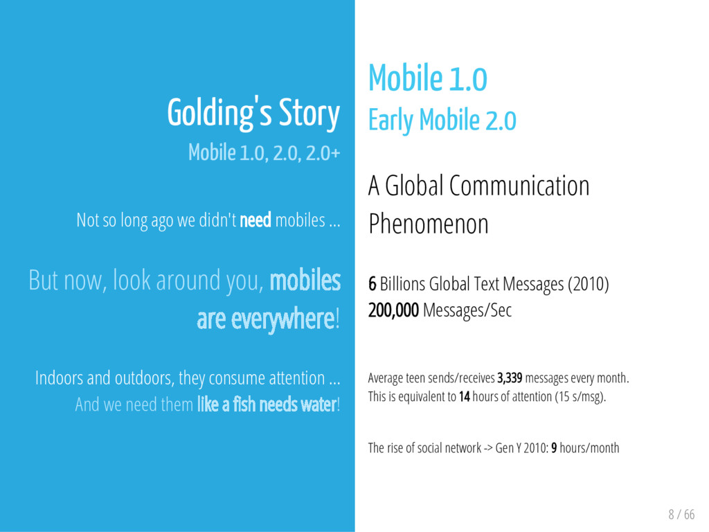 8 / 66 Golding's Story Mobile 1.0, 2.0, 2.0+ No...