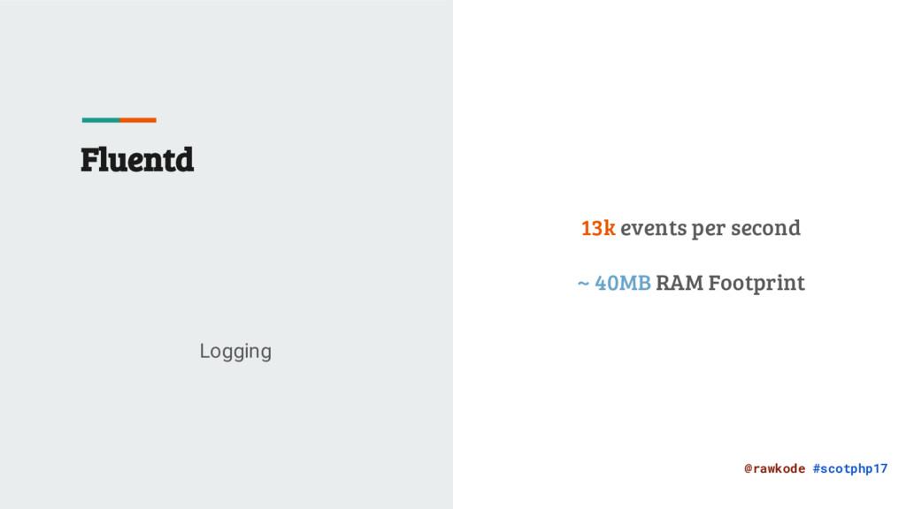 @rawkode #scotphp17 Fluentd Logging 13k events ...