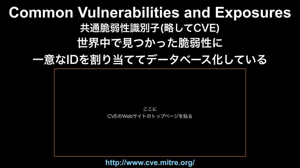 Common Vulnerabilities and Exposures ڞ௨੬ऑੑࣝผࢠ ུ...