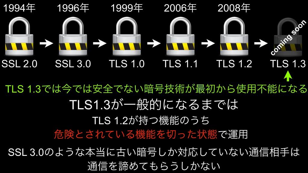SSL 2.0 SSL 3.0 TLS 1.0 TLS 1.1 TLS 1.2 TLS 1.3...