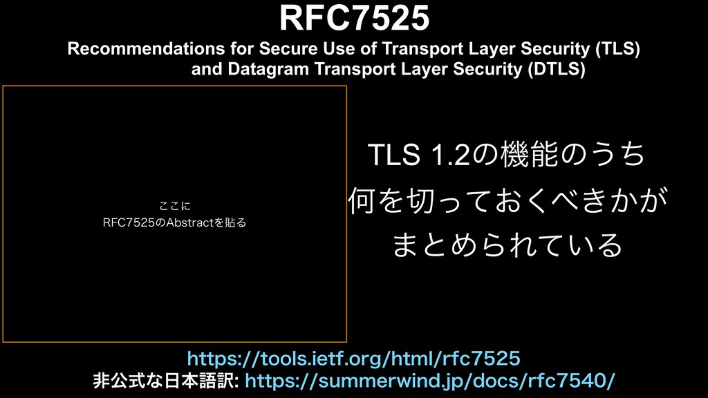 RFC7525 Recommendations for Secure Use of Trans...