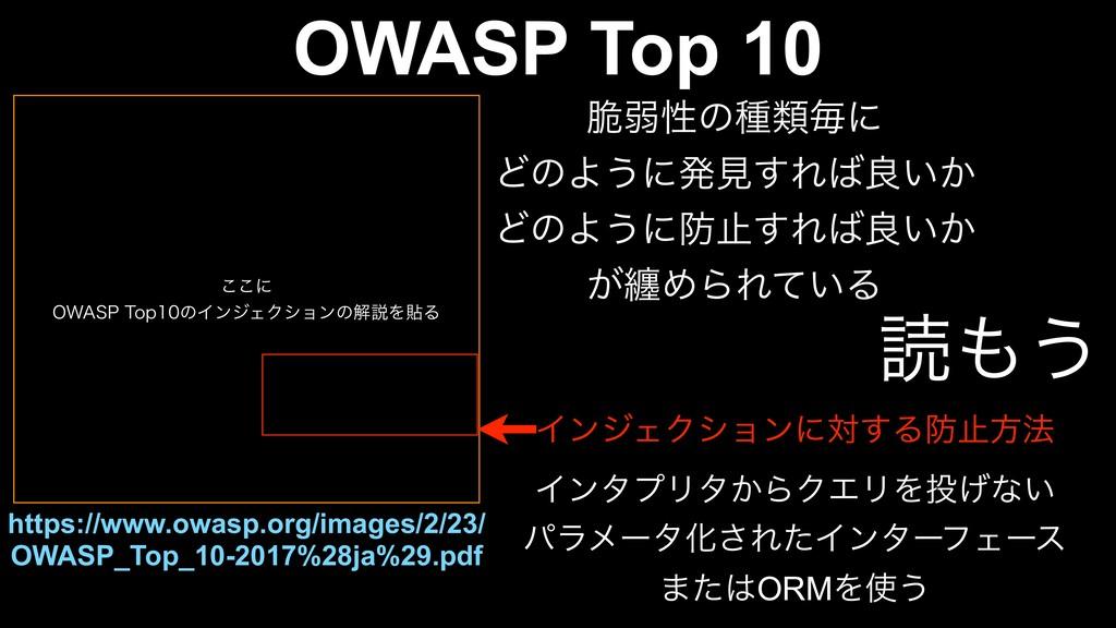 """͜͜ʹ 08""""415PQͷΠϯδΣΫγϣϯͷղઆΛషΔ OWASP Top 10 ht..."""
