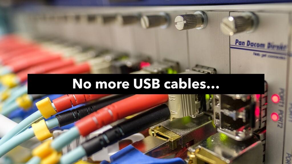 No more USB cables…