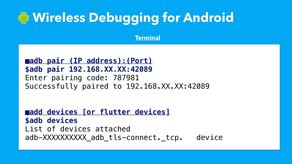 ɹWireless Debugging for Android Terminal ■adb p...