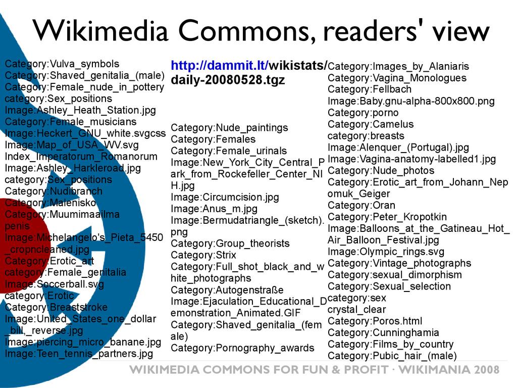 WIKIMEDIA COMMONS FOR FUN & PROFIT· WIKIMANIA 2...