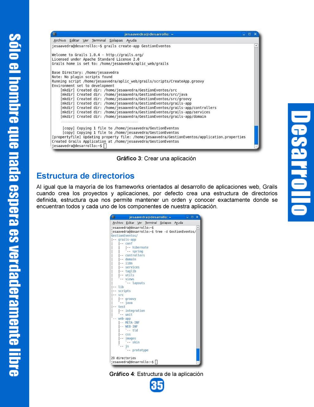Gráfico 3: Crear una aplicación Estructura de d...