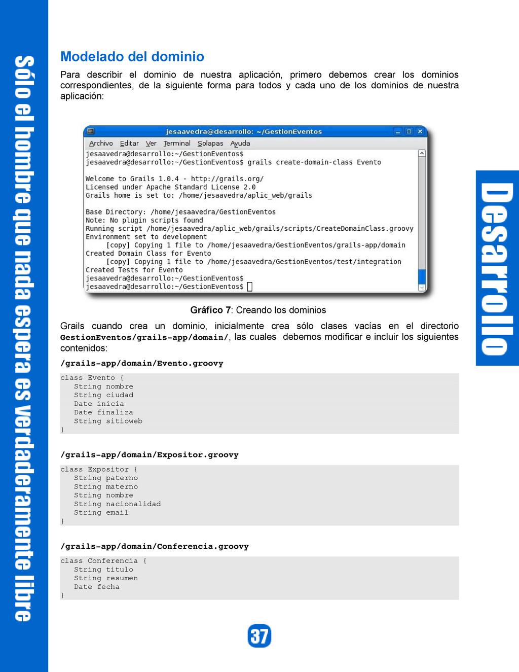 Modelado del dominio Para describir el dominio ...