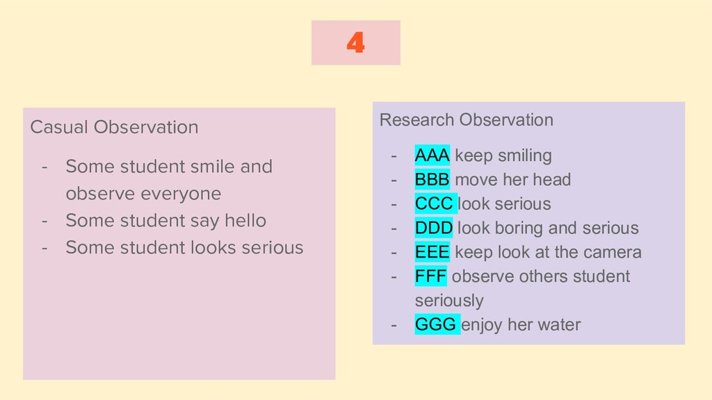 4 Casual Observation - Some student smile and o...