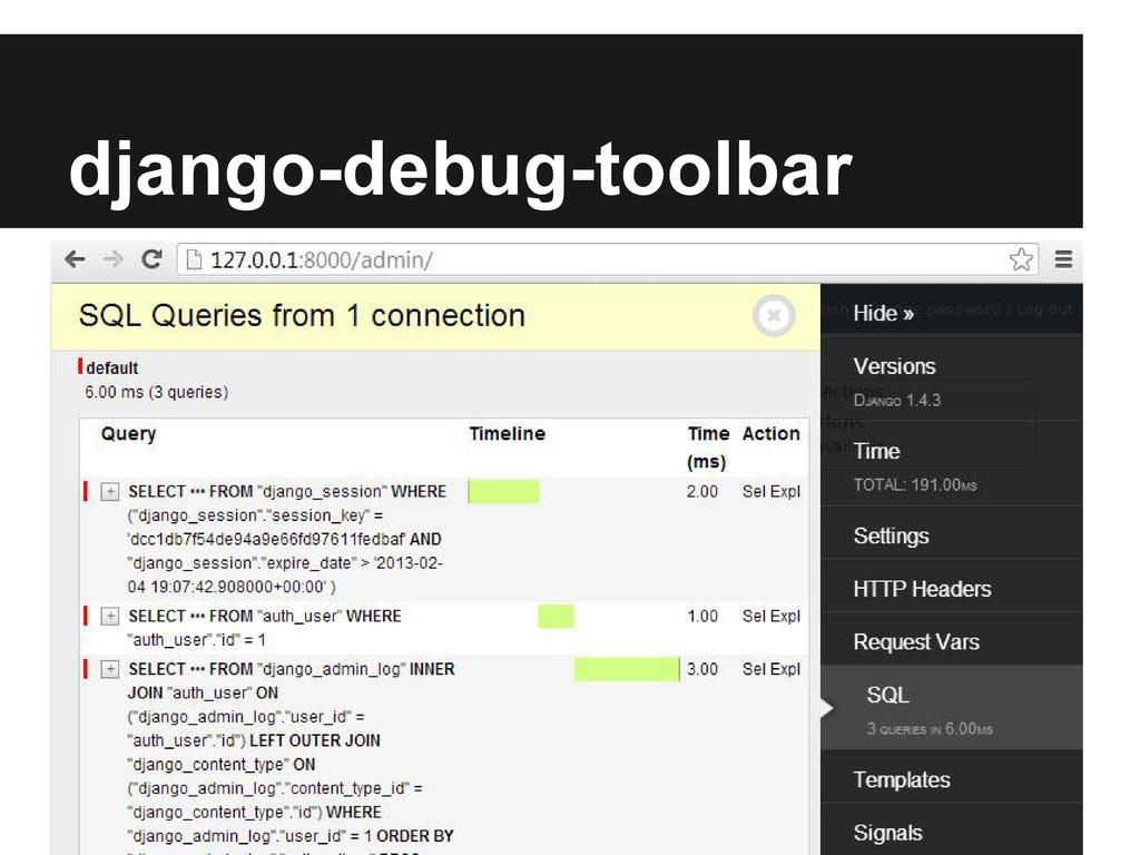 django-debug-toolbar