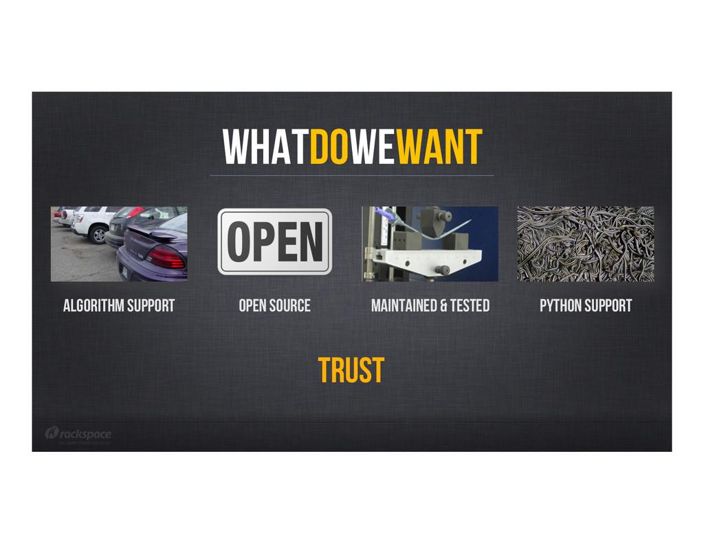 WhatDoWeWant Algorithm support Open Source MAIN...