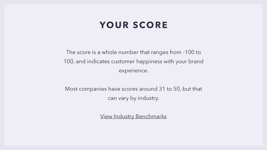 YOUR SCORE The score is a whole number that ran...