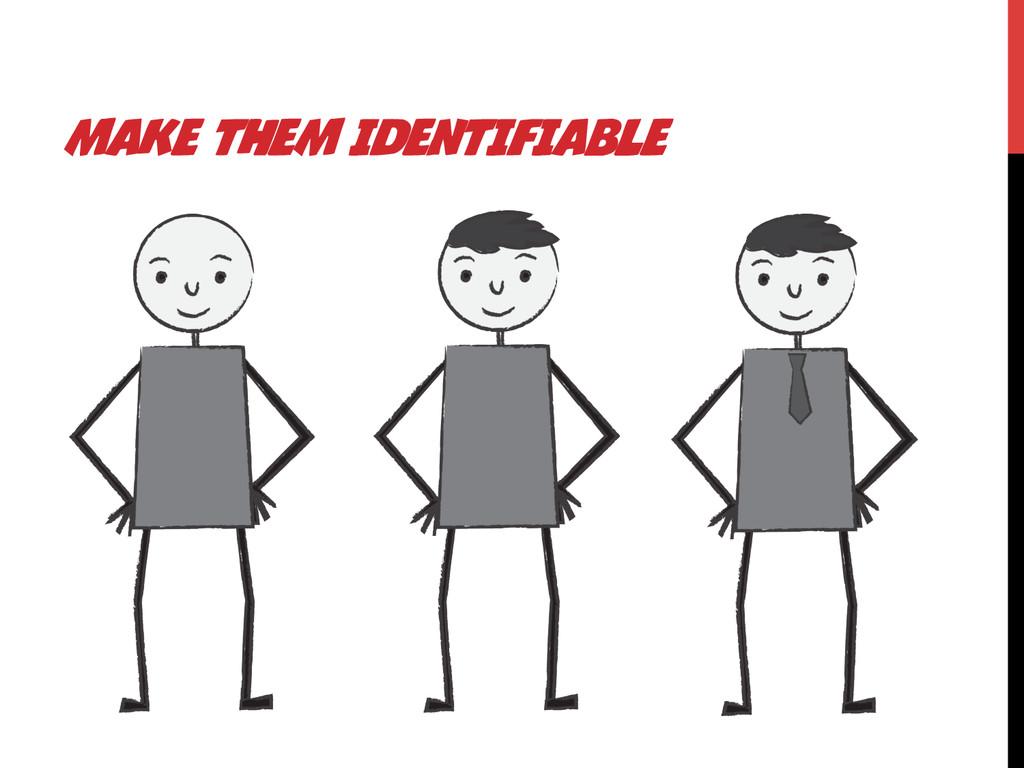 MAKE THEM IDENTIFIABLE