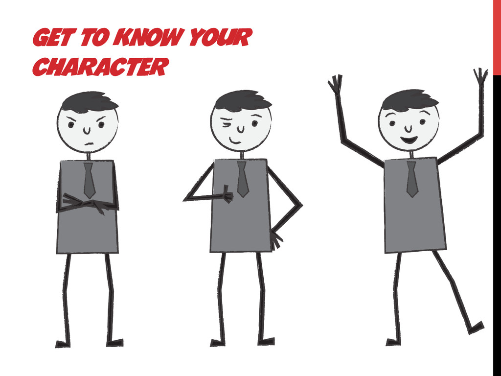 GET TO KNOW YOUR CHARACTER