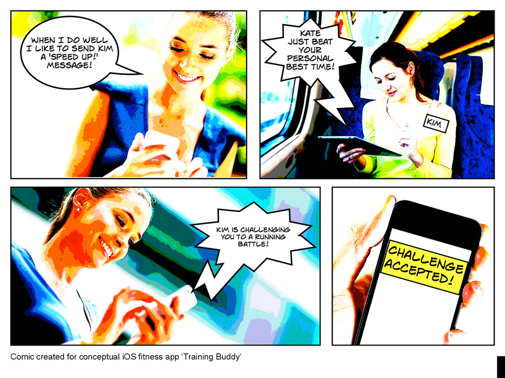 Comic created for conceptual iOS fitness app 'T...