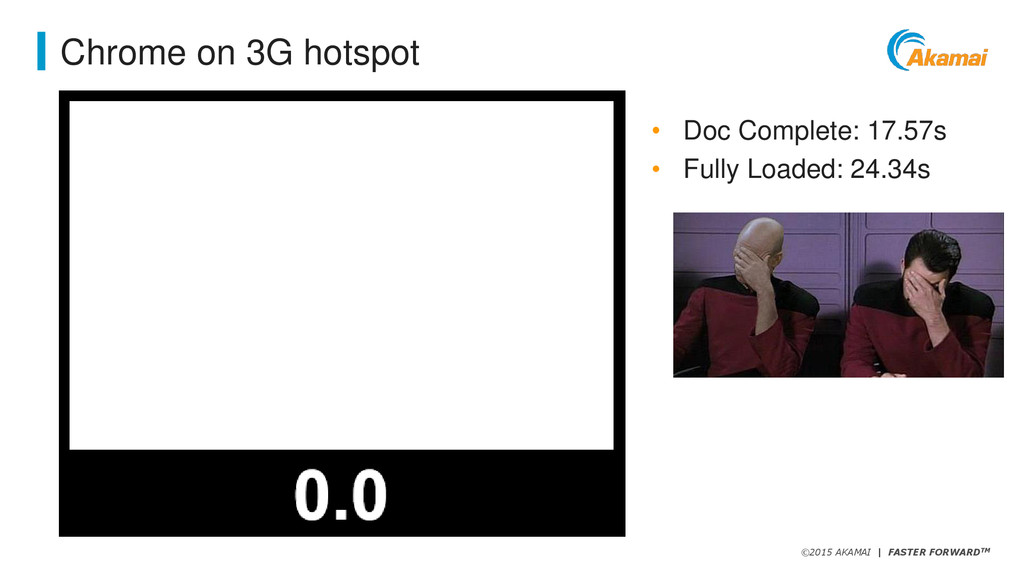 ©2015 AKAMAI   FASTER FORWARDTM Chrome on 3G ho...