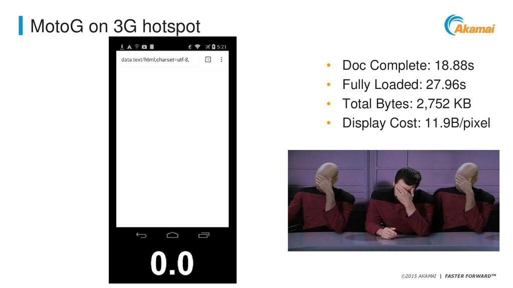 ©2015 AKAMAI   FASTER FORWARDTM MotoG on 3G hot...