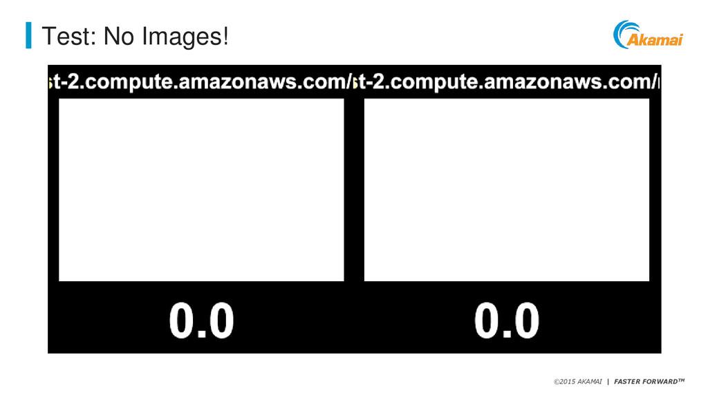 ©2015 AKAMAI   FASTER FORWARDTM Test: No Images!