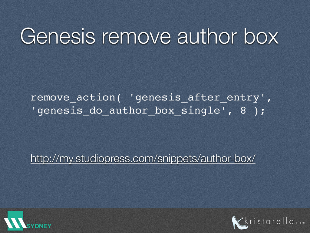 Genesis remove author box remove_action( 'genes...