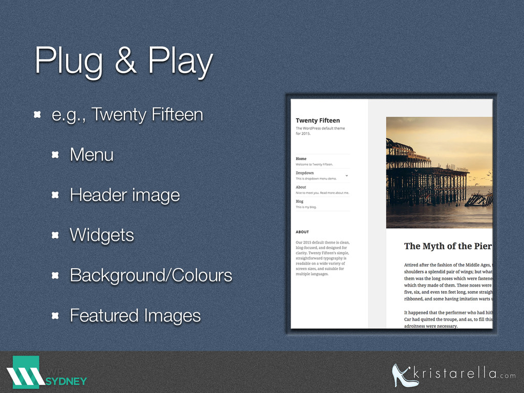 Plug & Play e.g., Twenty Fifteen Menu Header im...